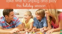 Happy Thanksgiving – Take time to unplug and play
