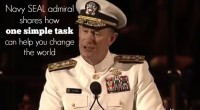Navy SEAL admiral shares why one simple task can help you change the world