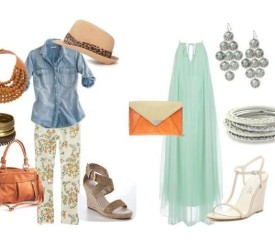 Add orange and mint to your spring and summer wardrobe