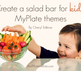 Create a salad bar for kids: MyPlate themes