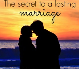 The secret to a lasting marriage