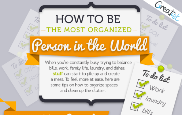 Be the world's most organized person {Infographic}