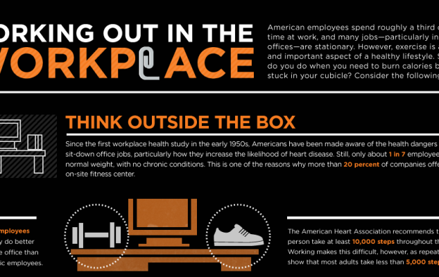Eight exercises you can do at your desk {Infographic}