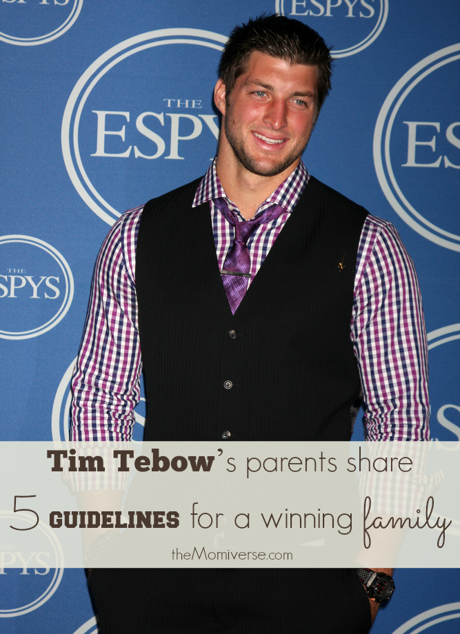 Tim Tebow's parents share faith and 5 guidelines for a winning family | The Momiverse