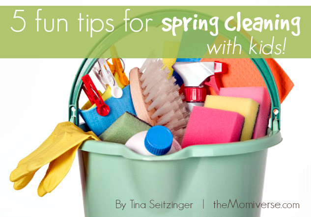 5 fun tips for spring cleaning with kids | The Momiverse | Article by Tina Seitzinger