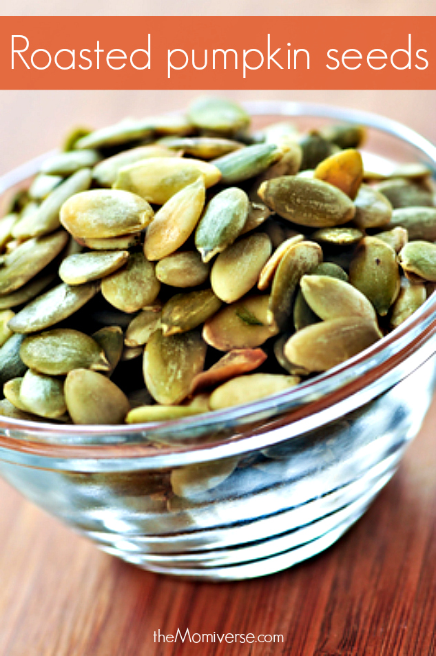 Roasted pumpkin seeds | 5 ways to eat more pumpkins [and a few easy recipes] | The Momiverse | Article by Cheryl Tallman