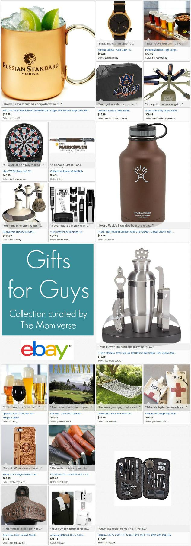 Gifts for Guys | eBay Collection curated by The Momiverse | Gift Guide