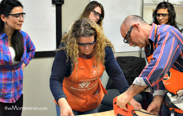 Home Depot Do-It-Herself workshop #DIHWorkshops | The Momiverse | DIY monogram craft | DIHworkshop instructors