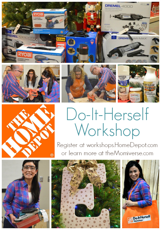 Home Depot Do-It-Herself workshop #DIHWorkshops | The Momiverse | DIY monogram craft