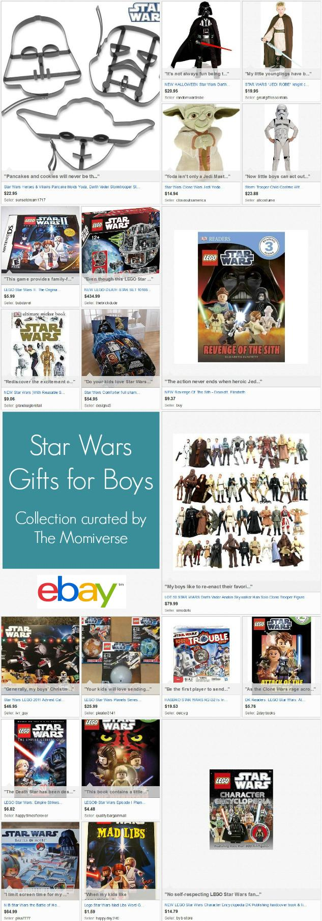 Star Wars Gifts for Boys | | eBay Collection curated by The Momiverse | Gift Guide