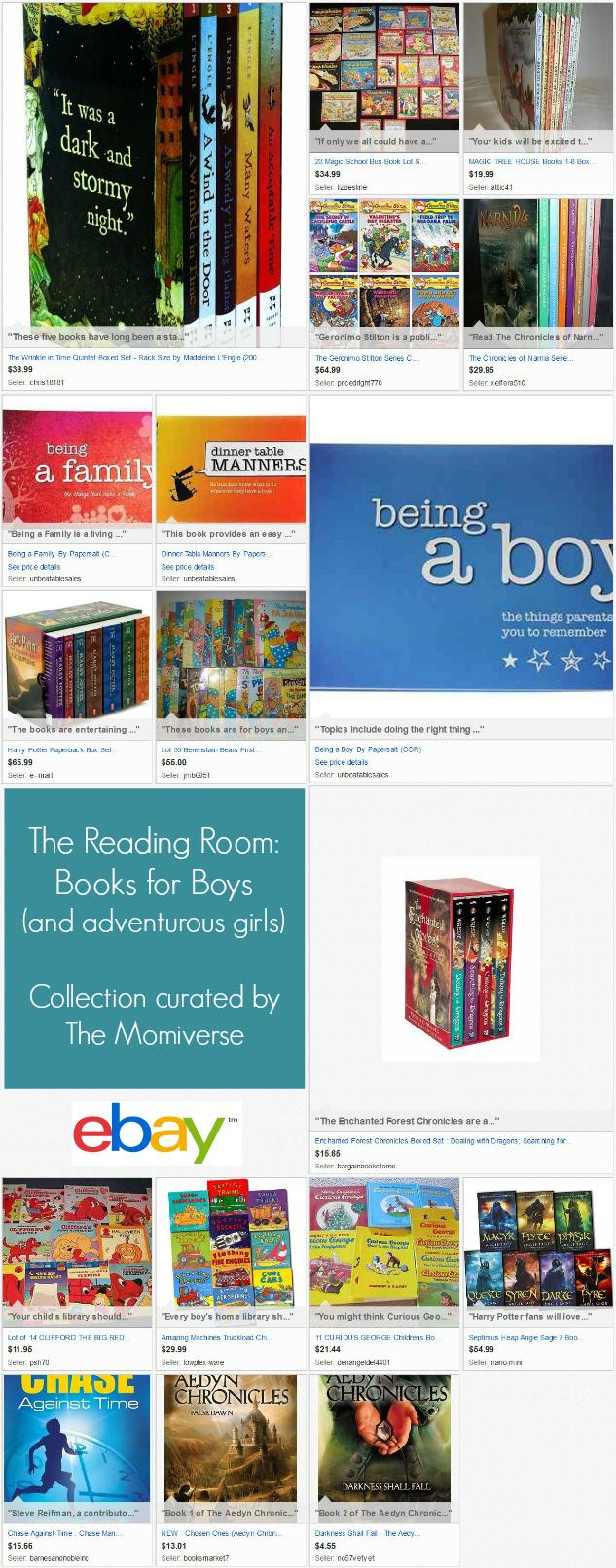 The Reading Room- Books for Boys | eBay Collection curated by The Momiverse | Gift Guide