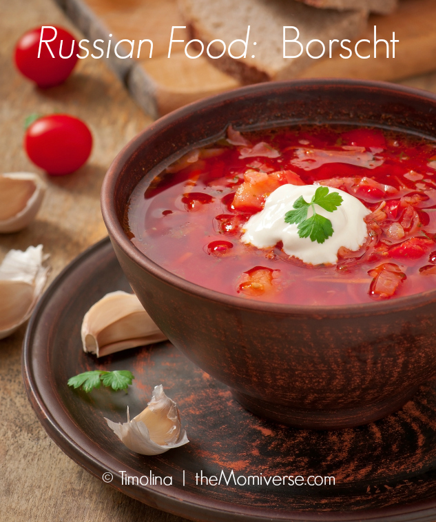 Russian Food - Borscht | The Momiverse | Article by Cheryl Tallman | Photo by Timolina