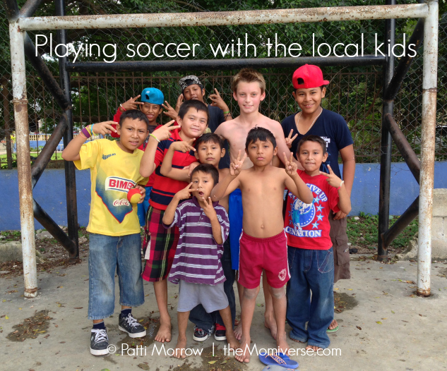 Playing soccer with the local Yucatán kids | The Momiverse