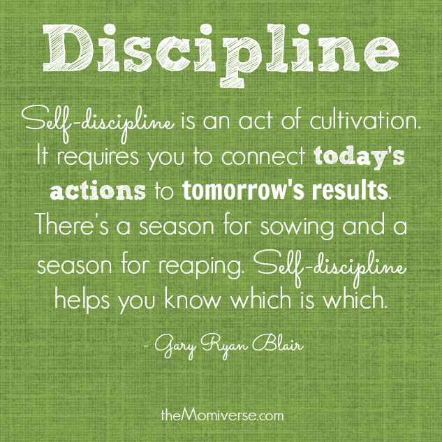 Discipline - Quote by Gary Ryan Blair | To raise a disciplined child, be a disciplined parent | The Momiverse