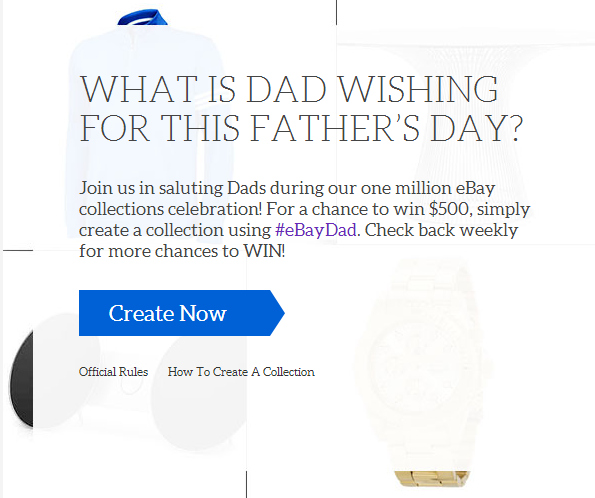 Create an #eBayDad collection for a chance to win $500! | The Momiverse