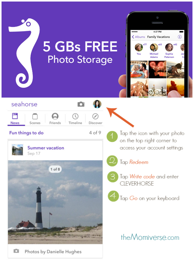 Clever photo sharing with family and friends #SeahorseApp #CleverGirls  | The Momiverse | promo code