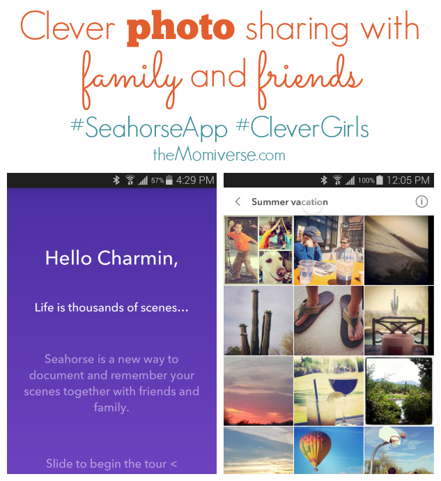 Clever photo sharing with family and friends #SeahorseApp #CleverGirls  | The Momiverse
