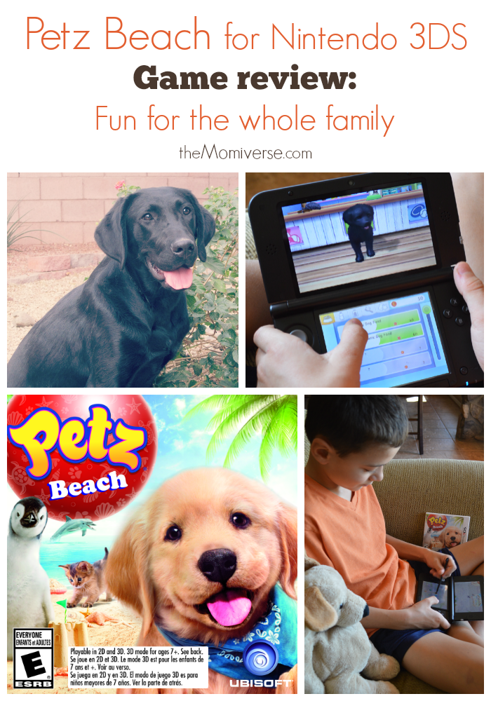 Petz Beach for Nintendo 3DS | Game review | The Momiverse | #PetzBeach #CleverGirls | Ubisoft