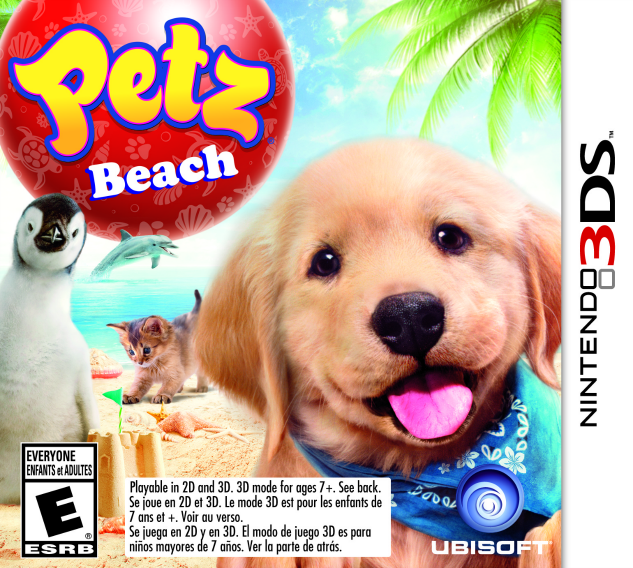 Petz Beach - Nintendo 3DS game cover | The Momiverse | Ubisoft