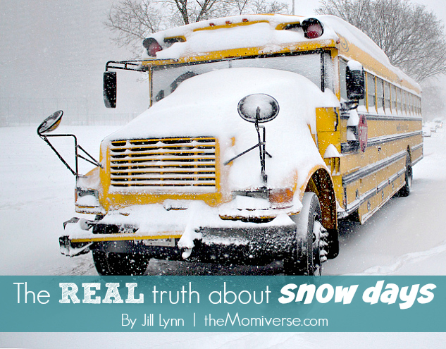 The REAL truth about snow days | The Momiverse | Article by Jill Lynn | Photo by David J