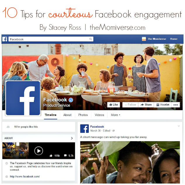 10 Tips for courteous Facebook engagement | The Momiverse | Article by Stacey Ross